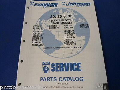 1990/93, 20, 25 & 30 Remote Electric Start Parts Catalog, Evinrude/Johnson