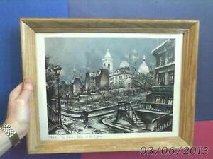 framed vintage MOODY PARIS PRINT by Maurice Legendre