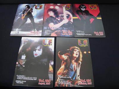 KISS L.F. Vol. 157 - 161 Japan Fanzine Book in 2007 Lot LF