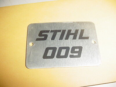 Stihl 009 Chainsaw Name Tag --------------------- Box887j