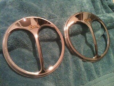 Pair of Buick Automobiles Headlight Parts vintage ShieldsRare