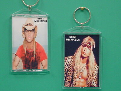 Bret Michaels   Poison   With 2 Photos   Designer Collectible Gift Keychain