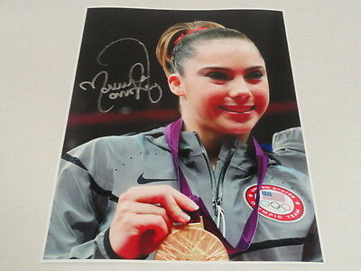 Mckayla Maroney Signed Gold Medal 11X14 Photo Usa Gymnastics Proof