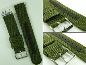 HQ 5 Colors Military Army INFANTRY Nylon Watch Band 12MM~22 MM Strap Fit Seiko