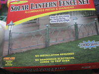 NEW solar fence set
