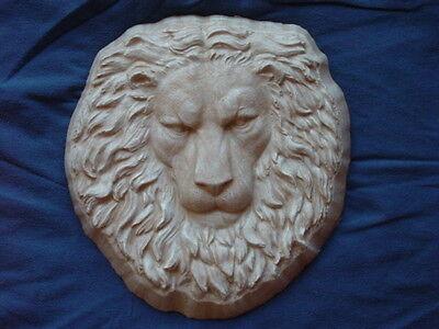 Lion Head Face Plaque Concrete Cement Plaster Garden Mold 7032