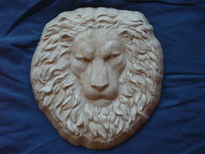 Huge Lion Head Face Plaque Concrete Cement Plaster Garden Mold 7032