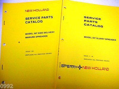 New Holland 307 Manure Spreader Manual Set