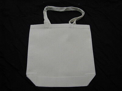 25 - CANVAS TOTE BAGS / 100% COTTON / GREAT ITEM FOR A FUNDRAISER OR GIVE-A-WAY