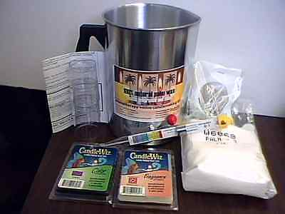Candle Making Supply-  Palm Wax Beginner kit w/pouring pot scent-Free Shipping