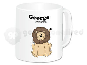 Personalised-Polymer-Plastic-Mug-Lion-Design-1-Any-Name