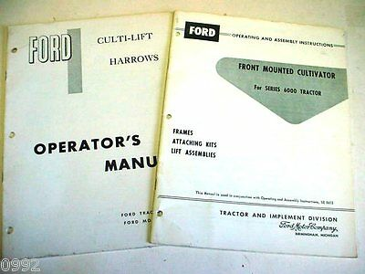 Ford 6000 Tractor Cultivator & Harrows Manuals