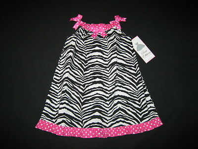 zebra Bows Boutique Dress Girls Clothes 24m Spring Summer Rare Editions