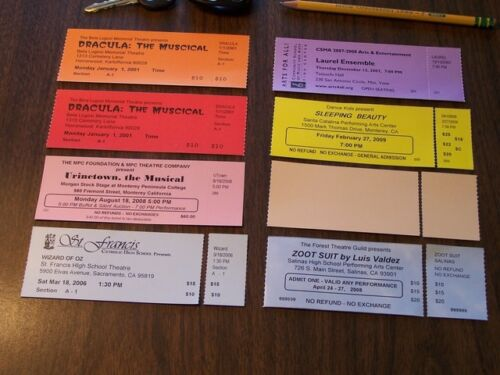 "Thermal Ticket Stock - 2"" x5.5"" Generic 1"" stub - (1,000)"