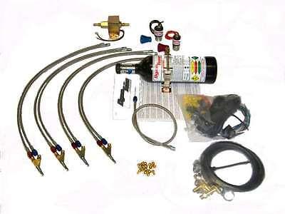 4 Cyl Direct Port Nitrous oxide system kz, gs, hayabusa, drag bike nos 2.5LB Direct Port Nitrous System