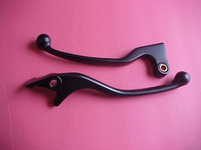 Honda 83 84 85 86 Vt500c 500 Shadow Black Lever Set V1 Brake & Clutch Vt500