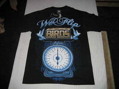 Black Mafioso Clothing We Flip Birds Tshirt - Size S - Small - West Coast