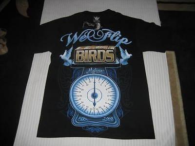 Black Mafioso Clothing We Flip Birds Tshirt - Size S - Small - West Coast