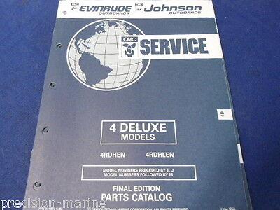 1992, 4 Deluxe Models Parts Catalog, Evinrude/Johnson OMC