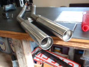 Triumph STAG ** REAR EXHAUST TAILPIPE LARGE BORE ** Stainless steel NEW !