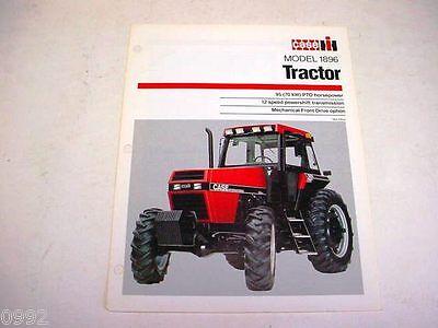 Case IH 1896 Farm Tractor Sales Brochure !