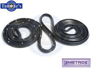68-72-El-Camino-Door-Weatherstrip-Seals-LM12V-Metro-New