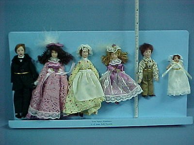 Dollhouse Miniature Doll Family Victorian Wi Maid - Porcelain - G7651-