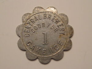 Central Brewing Company of East St. Louis, Illinois IL good 4 1 Cake Ice token