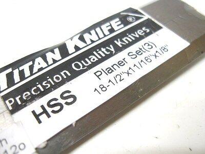 Woodmaster 718 Hss Planer Blades Set Of 3 18-1/2 X 11/16 X 1/8 Molder Planer