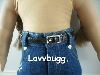 "Lovvbugg Black Belt for 18"" American Girl Doll Clothes Accessory"