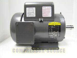 5 HP SINGLE PHASE BALDOR ELECTRIC COMPRESSOR MOTOR 184T FRAME # L8430T 230 VOLT