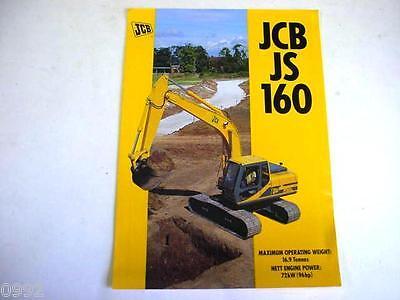 Jcb Js160 Excavator Color Brochure