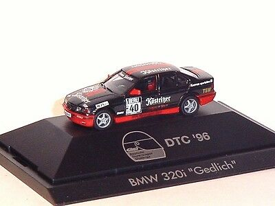 1:87 Herpa 1996 Bmw 320i Dtc 40 M.gedlich Pc Box Rare Collectable Model Car