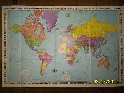 25x38 Hammond Odyssey World Map, Wall Poster, ...