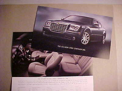 2005 Chrysler 300 Series Introductory First Version Sales Folder NEW