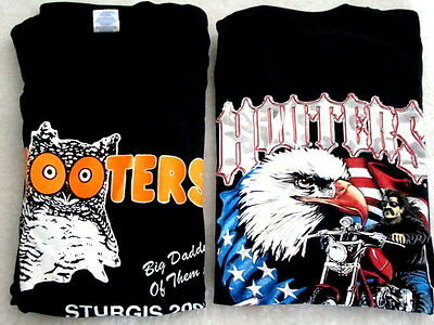 2 Hooters Uniform T-Shirt XXL Biker STURGIS SD Costume Halloween pirate rare