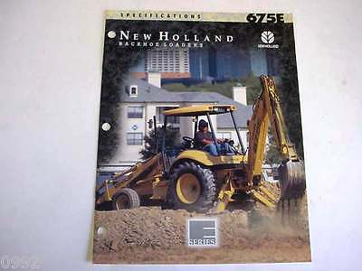New Holland 675e Tractor Loader Backhoe Color Sales Brochure From 1996