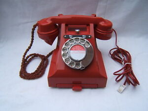 Bakelite GPO RED 328L telephone phone Bakerlite converted working great con   P1