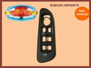 02-05-RAM-1500-2500-3500-DRIVERS-DOOR-POWER-WINDOW-LOCK-SWITCH-BEZEL-MOPAR-OEM