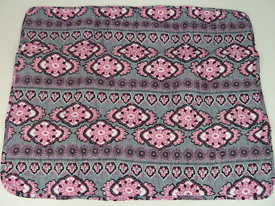 Cynthia Rowley Standard Pillow Sham Cover Case Pink Grey Paisley 100% Cotton