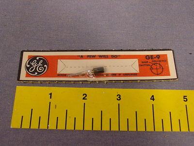 Rare Packaged Vintage Ge-9 1962 Black Transistor Unopened New