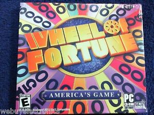 NEW SEALED JEWELL CASE  -  Wheel of Fortune  (PC) - CD-ROM