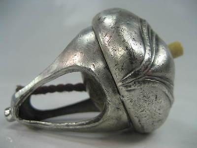 Jugendstil Druckschalter ca. 1910 Antik Klingeltaster Silber Personal Klingel