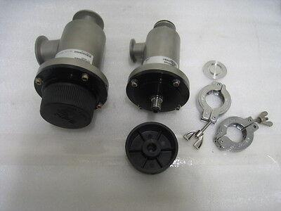 MKS Isolation Manual Valve, KF40 and KF25, 2 KF25 clamps