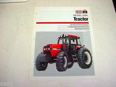 Case IH 3394 Farm Tractor Sales Brochure !