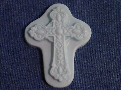 Qty 2 - Very Detailed Cross Soap Or Plaster Small Plaque Mold 4739