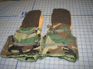 mittens-arctic-woodland-BDU-SMALL-NEW-extreme-cold-gloves-w-liners-100-military