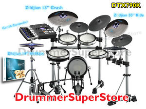yamaha dtx790k electronic drum set with zildjian gen 16 cymbal pack electric kit ebay. Black Bedroom Furniture Sets. Home Design Ideas