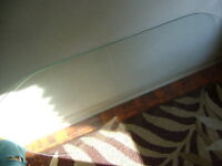 Oval Plate Glass Table Top  Size: 45 inches by 22 1/2 inches