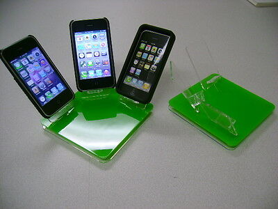 LOT 5 NEW STAND HOLDER CELL PHONE DISPLAY 3 in 1 GREEN